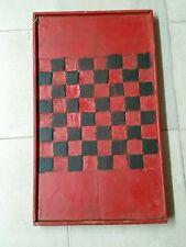Vintage/Antique Game Board Checkerboard  Folk Art primitive quebec canada