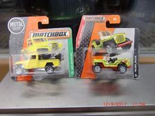 2xMatchbox '43 JEEP WILLYS  Bright GREEN/Red;LIFEGUARD HEROIC RESCUE☆New mit OVP