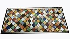 "48"" x 24"" Marble Table Top multi stones Handmade Home Decor Arts"
