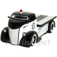 JADA 96284 1947 47 FORD COE FLATBED 1/24 DIECAST POLICE DEPT CAR BLACK / WHITE