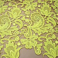 "Stunning Guipure Embroidery Wedding Lace Fabric 47"" Wide Bridal Dress 0.5 Yard"