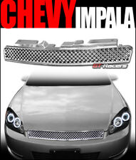 2006-2016 CHEVY IMPALA/MONTE CARLO CHROME LUXURY MESH FRONT BUMPER GRILL GRILLE