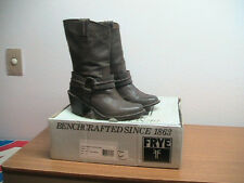 Womens 6B FRYE Carmen Harness Dark Brown Leather Boots, WORN ONCE, MSRP $298