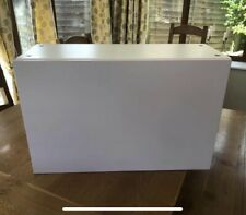 IKEA BESTA White Wall Mounted Cupboard With Pale Pink Matt Door