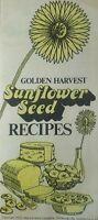 Sunflower Seed Recipe 1972 Vintage MCM Retro Pamplet Ad Golden Harvest