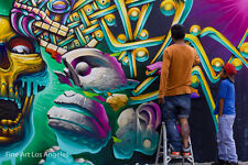 "Rhonda Dubin Photo, ""Graffiti Wall Artist""  Mexico"