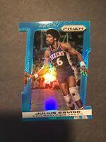 2013 Panini Prizm Dr. J Julius Erving Blue Prizm Die-Cut /199 Philadephia 76ers