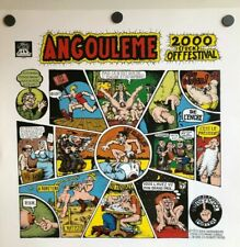 R. CRUMB - ANGOULEME 2000 F**K OFF FESTIVAL POSTER PARIS FRANCE CHEAP THRILLS