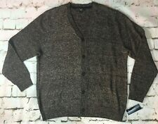 CLUB ROOM MEN'S XL BUTTON UP CARDIGAN NEW WITH TAGS BROWN