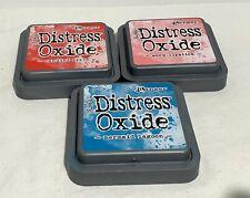 Tim Holtz Ranger DISTRESS OXIDE Ink Stamp Pads 3x3 Lot of 3