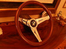 "BMW E3 E9 3.0 CS 3.0CSI 13.75"" Wood Steering Wheel NARDI  Deep Dish 3"" NARDI NEW"