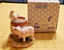 Lowell Davis Schmid 27-502 Toothpick Holder Second Helping Pig w Hen on Barrell