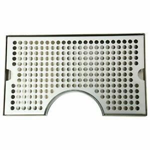 """Stainless Steel Drip Tray - Surface Mount 12"""" x 7"""" No Drain Surface Mount Beer"""