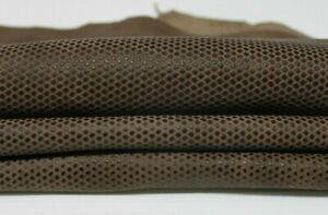 BROWN REPTILE TEXTURED Italian Lambskin Lamb Sheep leather skin 3sqf 0.6mm A4929