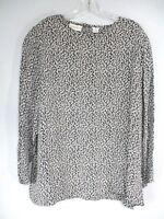 Vintage Elisabeth Liz Claiborne Women's Sz 16 Long Sleeve Floral Rayon Blouse
