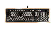 AZIO MK Retro Mechanical Keyboard Wired USB Blue Switches MK-RETRO-03 Black