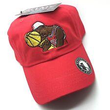Red Jordan Championship Trophy Hug Vtg Dad Cap Hat