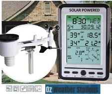 Ozweather Professional Weather Station With Solar Outdoor Sensor