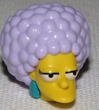 Lego New Yellow Minifig Head Modified Simpsons Patty with Turquoise Earrings