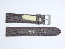 Di-Modell Genuine Shark Leather 20 mm D' BROWN Waterproof Watch Band SHARKSKIN