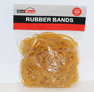 Mixed Size Stretchy Elastic Rubber Bands 250 approx Home School Office