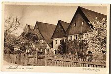 24879 AK Marklissa a. Queios Wollerstraße Lesna / Lauban 1944 Bahnpost