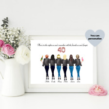 40th Birthday Gift / Personalised Print / Birthday Gift Idea / Custom Print