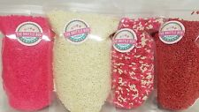 Baking Sprinkles Valentines Day 4 Pack 1 POUND each bag FREE SHIPPING