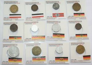 SERIE GERMANY COINS CURRENT MONEDAS ALEMANIA HISTORIA COINS HISTORY GERMAN