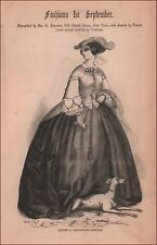 Sidesaddle Riding Dress, Habit, Equestrian Costume, Fashion, antique 1859
