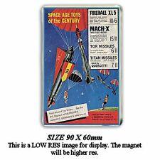RETRO 60's FIREBALL XL5 PARACHUTE TOY ADVERT - JUMBO FRIDGE / LOCKER MAGNET