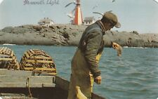 "*Canada Postcard-""Lobstering Off Yarmouth Light"" ...Nova Scotia"""