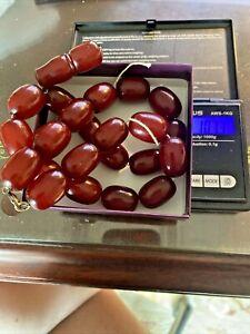 Vintage Antique cherry Amber Large prayer beads 101grams Faturan