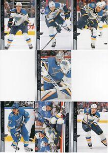 20-21 2020-21 Upper Deck St. Louis Blues Series One Team Set-7 Cards-Binnington