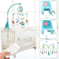 Baby Crib Mobile Musical Bed Bell With Controller Music Night Light Projection