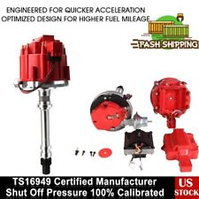 ELECTRONIC Small Cap HEI Distributor RED Fits Spark Plug Wire Chevy SBC BBC GM