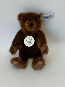 """""""Steiff Bear  7"""" Chocolate Brown Teddy Bear-1983 0160/18"""
