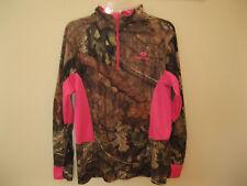 Women's MOSSY OAK Camo/Pink Spandex Athletic Jacket Size L (42-44)