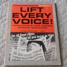 Lift Every Voice the 2nd People's Song Book Intro Paul Robeson Paperback, 1963