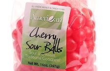 14oz Gourmet Style Bags of Cherry Sour Balls [7/8 lb.]
