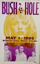 "Bush Concert Poster - 1996 w/ Hole - McNichols Arena, Denver, Colorado - 14""x22"""