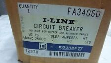 SQUARE D I-LINE CIRCUIT BREAKER FA34060 NEW FA34060