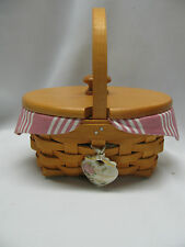 Longaberger Horizon of Hope Breast Cancer 1999 Basket Set Retired Dusty Rose Str