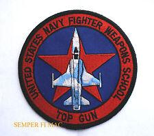 US NAVY FIGHTER WEAPON SCHOOL TOP GUN PATCH F14 NAS MIRAMAR MAVERICK ICEMAN USS