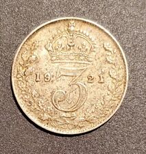UK Great Britain 1921 3 Pence - Silver