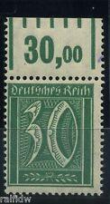 Dt. Reich 30 penique dígito placas 1921 error ** or michel 162 i examinado (s5630)