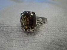 Charles Krypell Cognac Topaz 14K Yellow Gold Sterling Silver Ring