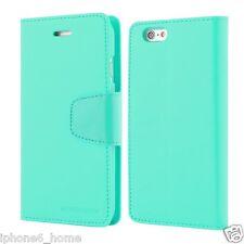 iPhone 6/6s Genuine MERCURY Goospery Mint Green Leather Flip Case Wallet Cover