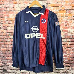 NIKE PSG Paris Saint-Germain 2001-02  Ronaldinho No.21 XL Long Sleeve Jersey