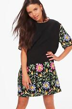 e05ec209fb6d Boohoo Abbie Embroidered Mesh Shift Dress Size 10 Uk BNWT RRP £28.99 Black
